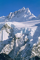 Ocypete mountain and Twaharpies glacier, Wrangell St. Elias National Park, Alaska.