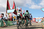World Champion Peter Sagan (SVK) Bora-Hansgrohe and N.A. Soto Martinez (ESP) Cajal Rural-Seguros RGA approach the finish line at the end of Stage 13 of the La Vuelta 2018, running 174.8km from Candas, Carreno to Valle de Sabero, La Camperona, Spain. 7th September 2018.<br /> Picture: Unipublic/Photogomezsport | Cyclefile<br /> <br /> <br /> All photos usage must carry mandatory copyright credit (&copy; Cyclefile | Unipublic/Photogomezsport)