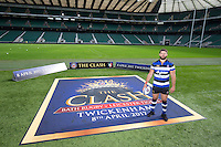 "Guy Mercer of Bath Rugby. Bath Rugby Photocall for ""The Clash"" on September 22, 2016 at Twickenham Stadium in London, England. Photo by: Andrew Fosker / Onside Images"