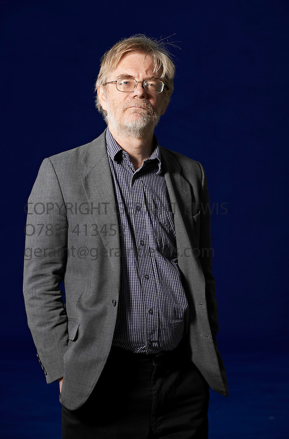 Fred Pearce  writer of the book In The Land Grubbers   at The Edinburgh International Book Festival   . Credit Geraint Lewis