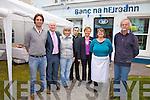 At the Enterprise Week in Bank of Ireland, Cahersiveen last Friday were l-r; Mike Crawley(Mo?r Active), Dermot Walsh (Manager BoI Cahersiveen), Jane Urquhart(West Cove Bakery), James McCarthy(Camo's), Ann Landers(BoI Cahersiveen), Kay O'Connor(Sugar Shack Cake Company) & Harry Ven Der Zanden(Derreenrclaurig Cheese).