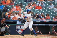 Ben Aklinski (52) of the Kentucky Wildcats at bat against the Sam Houston State Bearkats during game four of the 2018 Shriners Hospitals for Children College Classic at Minute Maid Park on March 3, 2018 in Houston, Texas. The Wildcats defeated the Bearkats 7-2.  (Brian Westerholt/Four Seam Images)