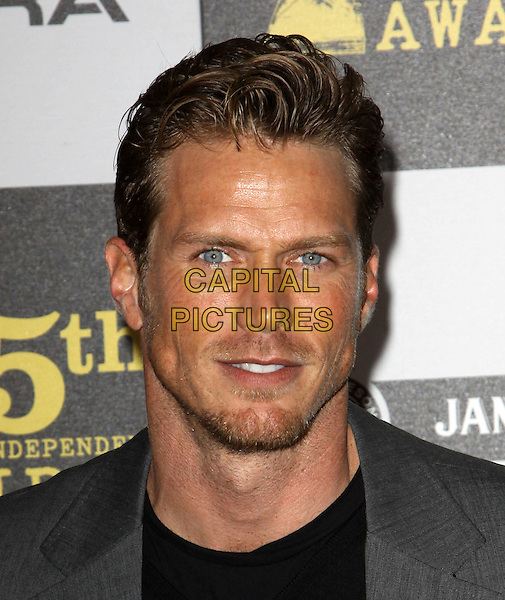 JASON LEWIS .25th Annual Film Independent Spirit Awards held At The Nokia LA Live, Los Angeles, California, USA,.March 5th, 2010 ..arrivals Indie Spirit portrait headshot beard stubble facial hair goatee black grey gray  tanned sun tan .CAP/ADM/KB.©Kevan Brooks/Admedia/Capital Pictures
