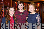 Pictured at the Stacks social in the Meadowlands Hotel, Tralee, on Saturday night were l-r: Sarah Higgins, Charlotte Higgins and Ciara Rogers.