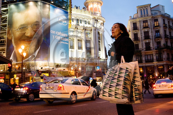 BILBAO - SPAIN 6 MAR 2008 -- An election campaign poster of leader of the conservative party PP opposition candidate Mariano RAJOY in central Madrid. -- © GORM K. GAARE/  EUP- IMAGES.