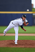 Peoria Javelinas pitcher Cody Hebner (20) delivers a pitch during an Arizona Fall League game against the Mesa Solar Sox on October 21, 2015 at Peoria Stadium in Peoria, Arizona.  Peoria defeated Mesa 5-3.  (Mike Janes/Four Seam Images)