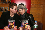 Trent Dawson & Ewa da Cruz  - ATWT sign for fans The Man from Oakdale - a Novel by Henry Coleman with Alina Adams on January 31, 2009 at Borders in Westbury, New York. (Photo by Sue Coflin/Max Photos)