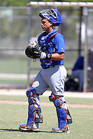 New York Mets catcher Xorge Carrillo #54 during an Instructional League game against the Minnesota Twins at Lee County Sports Complex on October 4, 2011 in Fort Myers, Florida.  (Mike Janes/Four Seam Images)