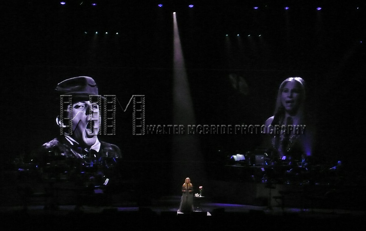 """Barbra Streisand performing """"Barbra: The Music, The Mem'ries, The Magic""""— The Encore at Barclays Center  Brooklyn on May 6, 2017 in New York City."""