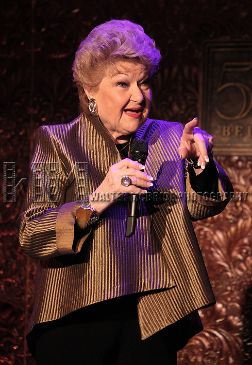 Marilyn Maye rehearsing for her show 'Maye-Den Voyage' at 54 Below in New York City on 3/5/2013