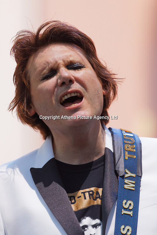 Pictured: Nicky Wire. Saturday 29 June 2019<br /> Re: Manic Street Preachers concert at Cardiff Castle, south Wales, UK.