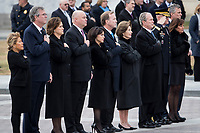 Members of the Bush family look on as the casket of former President George H.W. Bush is transported from the U.S. Capitol to the National Cathedral Wednesday, Dec. 5, 2018. <br /> CAP/MPI/RS<br /> &copy;RS/MPI/Capital Pictures