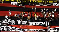 RECIFE-PE-06,04,2017-SPORT - DANUBIO-Torcida do Danubio durante partida contra o Sport em  jogo válido pela 1ª rodada da Copa Sulamericana 2017, na Ilha do Retiro, Região Oeste do Recife, nesta quinta - feira,06. (Foto: Jean Nunes/Brazil Photo Press)