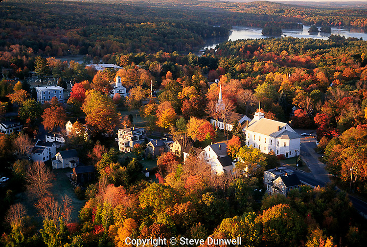 aerial view, Harvard, MA autumn