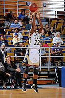 11 November 2011:  FIU's Jerica Coley (22) shoots a jump shot in the second half as the FIU Golden Panthers defeated the Jacksonville University Dolphins, 63-37, at the U.S. Century Bank Arena in Miami, Florida.