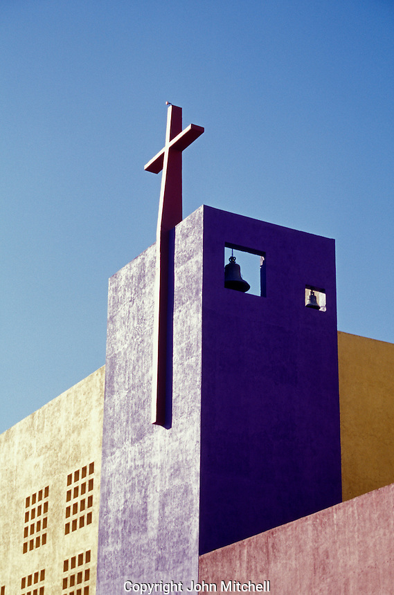 Modern church bell tower in the city of Tuxtla Gutierrez, Chiapas, Mexico