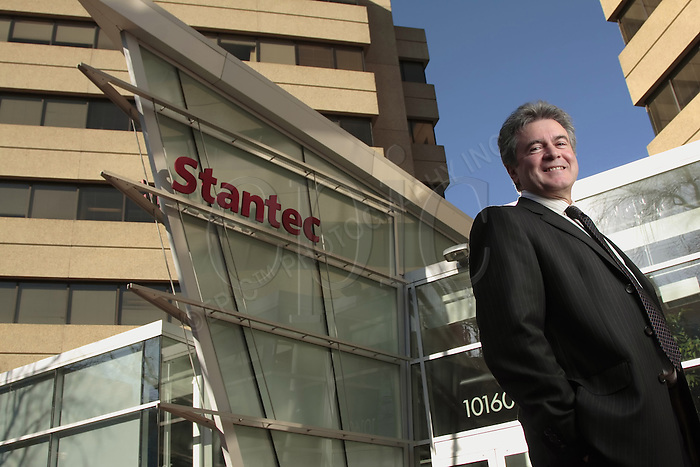 Tony Franceschini, CEO of Stantec Inc., in front of  the headquarters of this engineering and construction firm based in Edmonton, Alberta on Thursday April26, 2007. Photo by Ian Jackson, Epic Photography Inc.