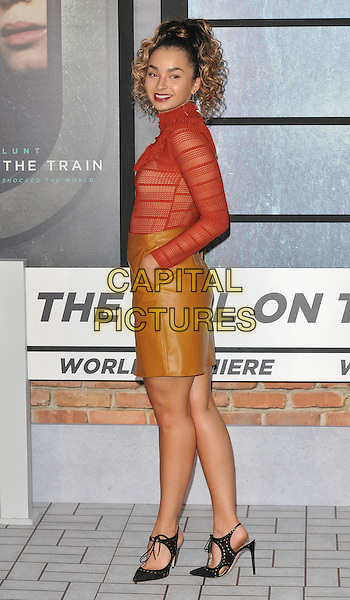 Ella Eyre at the &quot;The Girl on the Train&quot; world film premiere, Odeon Leicester Square cinema, Leicester Square, London, England, UK, on Tuesday 20 September 2016.<br /> CAP/CAN<br /> &copy;CAN/Capital Pictures