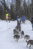 Molly Yazwinski Anchorage Start Iditarod 2008.