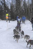 Molly Yazwinski Anchorage Start Iditarod 2008.