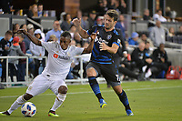San Jose, CA - Saturday June 09, 2018: Latif Blessing, Vako during a Major League Soccer (MLS) match between the San Jose Earthquakes and Los Angeles Football Club at Avaya Stadium.