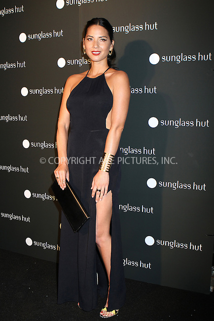 WWW.ACEPIXS.COM<br /> <br /> September 10 2013, New York City<br /> <br /> Olivia Munn at the Sunglass Hut Times Square Store Opening Hosted by Georgia May Jagger at Sunglass Hut Times Square on September 10, 2013 in New York City. <br /> <br /> By Line: Nancy Rivera/ACE Pictures<br /> <br /> <br /> ACE Pictures, Inc.<br /> tel: 646 769 0430<br /> Email: info@acepixs.com<br /> www.acepixs.com