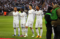 Pictured: (L-R) Wayne Routledge, Nathan Dyer, Ki Sung-Yueng, Jonathan De Guzman. Sunday 24 February 2013<br />
