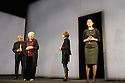 HERE WE GO, by Caryl Churchill, opens in the Lyttelton Theatre at the National Theatre, Southbank. The cast comprises: Madeline Appiah, Susan Engel, Patrick Godfrey, Hazel Holder, Joshua James, Amanda Lawrence, Eleanor Matsuura, Alan Williams. Picture shows: Alan Williams, Susan Engel, Amanda Lawrence, Eleanor Matsuura.