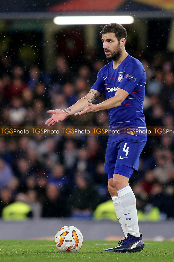Cesc Fabregas of Chelsea during Chelsea vs PAOK Salonika, UEFA Europa League Football at Stamford Bridge on 29th November 2018