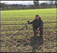 BNPS.co.uk (01202 558833)<br /> Pic: JasonBaker/BNPS<br /> <br /> Jason Baker with his metal detecting gear.<br /> <br /> Weighty find - 85lb Roman lead from a Somerset mine turns up 2000 years later.A treasure hunting bricklayer who unearthed a 2,000-year-old Roman ingot on a farm is now set to profit at auction.  Jason Baker found the 2ft long lead bar with his metal detector on a routine rally in the Mendip Hills near Wells, Somerset, last year.Amazingly the ingot is still inscribed with the name of emperor Marcus Aurelius Armeniacus dating it to 164 AD, and would have been destined for Imperial Rome had it not been lost at the time.It will be sold in Etwall, just outside Derby in Derbyshire, on March 22, when it's expected to fetch &pound;15,000.