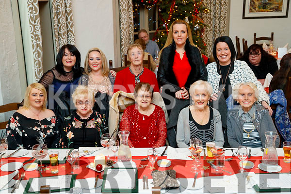 Enjoying Women's Christmas at the Meadowlands Hotel, Tralee on Saturday night last were front l-r: Anne McGinley, Bernie Roche, Anna Douglas, Ena Healy and Patsy Griffin. Back l-r: Jactina Powell, Caitriona Sullivan, Anne McGinley, Lorraine Healy and Marian Griffin.