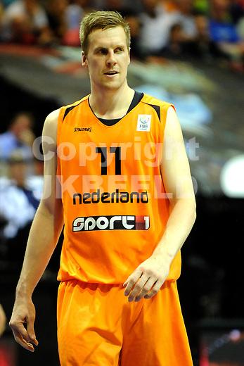 GRONINGEN  Basketbal, Nederland - Israel, Martiniplaza, EK kwalificatie ,  seizoen 2014-2015, 13-08-2014,  Thomas Koenis