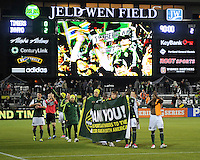 Portland Timbers vs Houston Dynamo during the MLS competition at Jeld-Wen Field, Portland Oregon, October 14, 2011.  The Portland Timbers lost to Houston Dynamo 0-2.