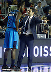 Alba Berlin's coach Ahmet Caki whit Dominique Johnson during Eurocup, Regular Season, Round 6 match. November 16, 2016. (ALTERPHOTOS/Acero)