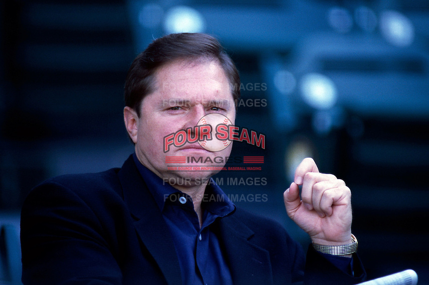Baseball player agent Scott Boras before a game at Edison International Field during the 1998 season in Anaheim, California. (Larry Goren/Four Seam Images)
