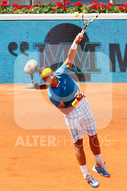 Rafael Nadal during Tennis Madrid Open match, May 15,2010..(ALTERPHOTOS/Acero)