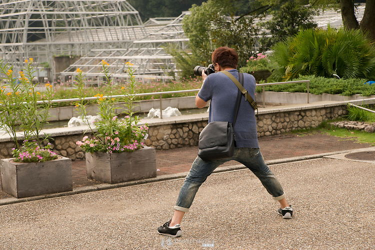 Photographer at Higashiayama Botanic Gardens.