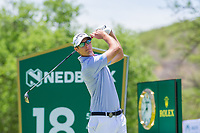 Nicolas Colsaerts (BEL) on the 18th tee during the first round at the Nedbank Golf Challenge hosted by Gary Player,  Gary Player country Club, Sun City, Rustenburg, South Africa. 14/11/2019 <br /> Picture: Golffile | Tyrone Winfield<br /> <br /> <br /> All photo usage must carry mandatory copyright credit (© Golffile | Tyrone Winfield)