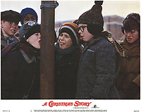 A Christmas Story (1983)<br /> Lobby card with Peter Billingsley, Scott Schwartz &amp; Rd Robb<br /> *Filmstill - Editorial Use Only*<br /> CAP/KFS<br /> Image supplied by Capital Pictures