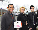 "OLTL Corbin Bleu ""Jeffrey King"", Erika Slezak, Robert Gorrie ""Matthew Buchanan"" - Welcome Back Rally to mark the returns of former ABC soap opera One Life To Live and All My Children. Due to overwhelming fan demand, both long-running dramas are being re-launched by producer Prospect Online Network (TOLN). The rally is in front of the Connecticut Film Center in Stamford, CT where the shows are now being produced on March 18, 2013 to coincide with OLTL's first tape date. (Photo by Sue Coflin/Max Photos)"
