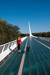 Sundial Bridge across Sacramento River in Redding in Northern California.Photo copyright Lee Foster.  Photo # california-sundial-bridge-cashas104991