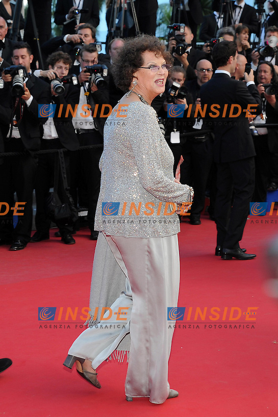 Claudia Cardinale  .Cannes 21/5/2013 .66mo Festival del Cinema di Cannes 2013 .Foto Panoramic / Insidefoto .ITALY ONLY