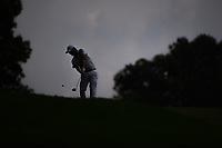 Andrew Landry (USA) is silhouetted as he hits his second shot 16 during 1st round of the World Golf Championships - Bridgestone Invitational, at the Firestone Country Club, Akron, Ohio. 8/2/2018.<br /> Picture: Golffile | Ken Murray<br /> <br /> <br /> All photo usage must carry mandatory copyright credit (&copy; Golffile | Ken Murray)