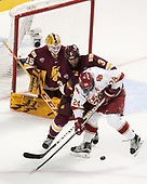 Hunter Miska (UMD - 35), Dan Molenaar (UMD -3), Colin Staub (DU - 24) - The University of Denver Pioneers defeated the University of Minnesota Duluth Bulldogs 3-2 to win the national championship on Saturday, April 8, 2017, at the United Center in Chicago, Illinois.