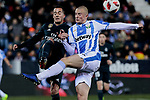 Real Madrid's Lucas Vazquez and CD Leganes's Vasyl Kravets during  between Real Madrid and CD Leganes at Butarque Stadium in Madrid, Spain. January 16, 2019. (ALTERPHOTOS/A. Perez Meca)