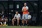 10 September 2016: Virginia head coach George Gelnovatch. The Wake Forest University Demon Deacons hosted the University of Virginia Cavaliers in a 2016 NCAA Division I Men's Soccer match. Wake Forest won the game 1-0 in sudden death overtime.