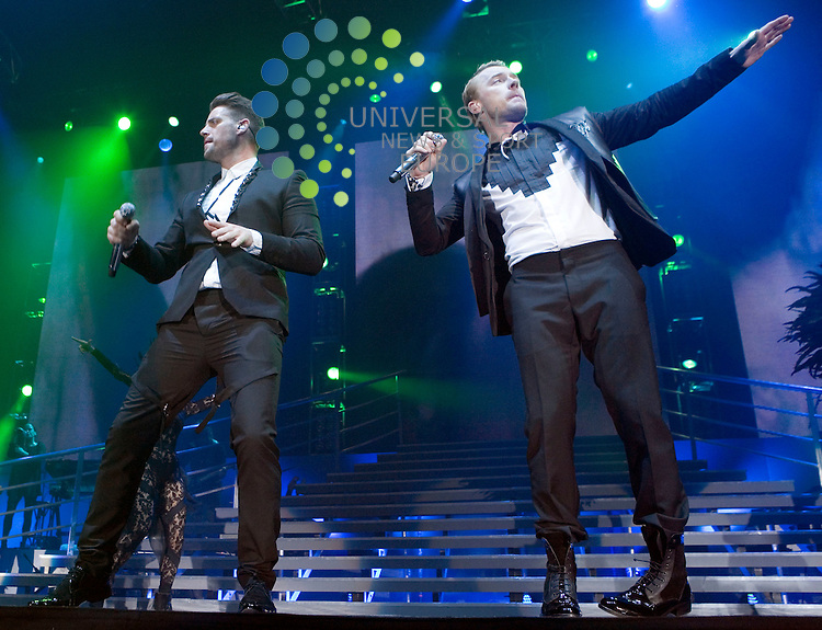 Boyzone, play live at the SECC in Glasgow on Saturday 12th March 201 as part of the Brother tour to mark the passing of bandmate Stephen Gately.. .Pictures: Peter Kaminski/Universal News and Sport (Europe)2010