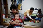 Tokyo, April 20 2011 -  .(eng) Kaori Suzuki has no idea about her futur..(fr) Kaori Suzuki n'a aucune idee de ce que le futur reserve a sa famille.