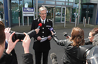 26/04/2016 - SOUTH YORKSHIRE POLICE - Chief Constable David Crompton issues a statmeent at SOUTH YORKSHIRE POLICE HQ IN SHEFFIELD in relation to the Hillsborough Disaster.<br /> <br /> Mandatory Credit - Alex Roebuck / www.alexroebuck.co.uk