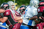 DARMSTADT, GERMANY - JUNE 02: The Darmstadt Diamonds against the Kirchdorf Wildcats at Buergerpark Nord on June 02, 2012 in Darmstadt, Germany. The Diamonds defeated the Wildcats 20-7. (Photo by Dirk Markgraf)